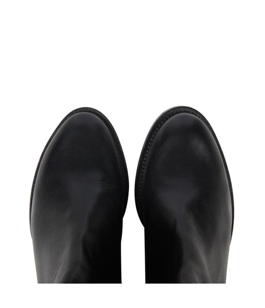 AllSaints Boyar Thigh Boot in Black