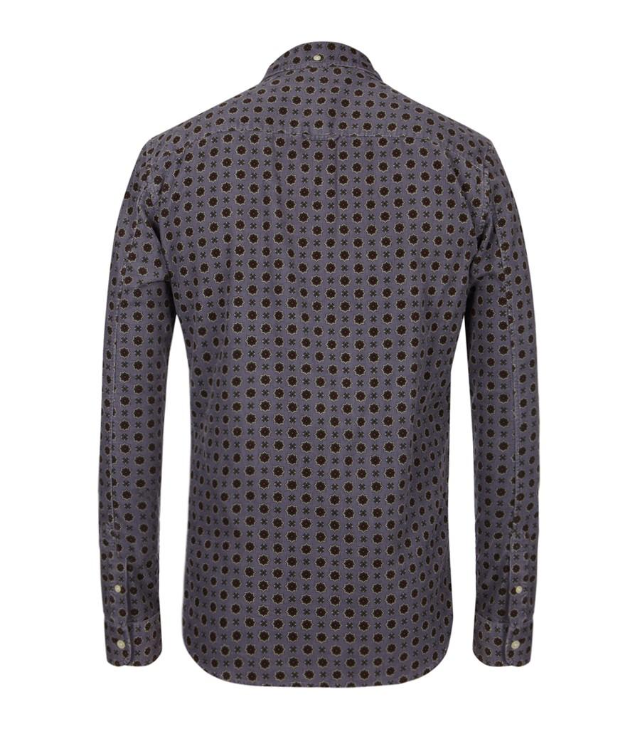 AllSaints Cecil Shirt in Steel Grey (Grey) for Men