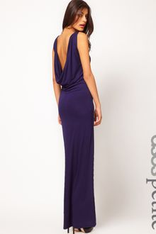 Navy Blue Maxi Dress on Asos Petite Exclusive Sexy Maxi Dress With Cowl Back   Lyst