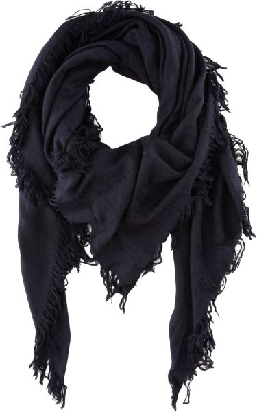 Balmain Oversized Damask Jacquard Scarf in Blue for Men (navy)