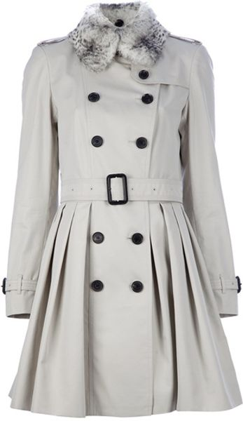Burberry Belted Trench Coat in Gray (grey)