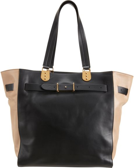 Christian Louboutin Colorblock Large Sybil Shopper in Beige (gold)