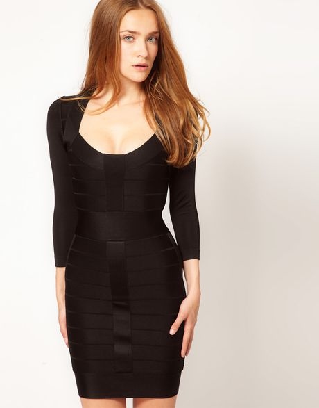 French Connection Spotlight Knit Bandage Bodycon Long