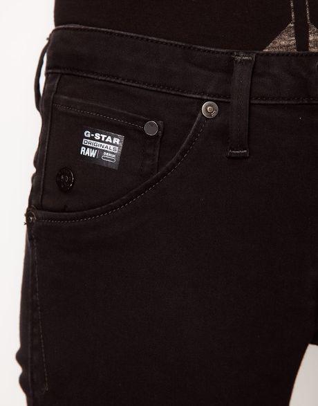 g star raw gstar arc 3d super skinny jeans in black. Black Bedroom Furniture Sets. Home Design Ideas