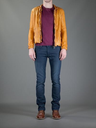 Giorgio Brato Leather Jacket in Honey (Orange) for Men