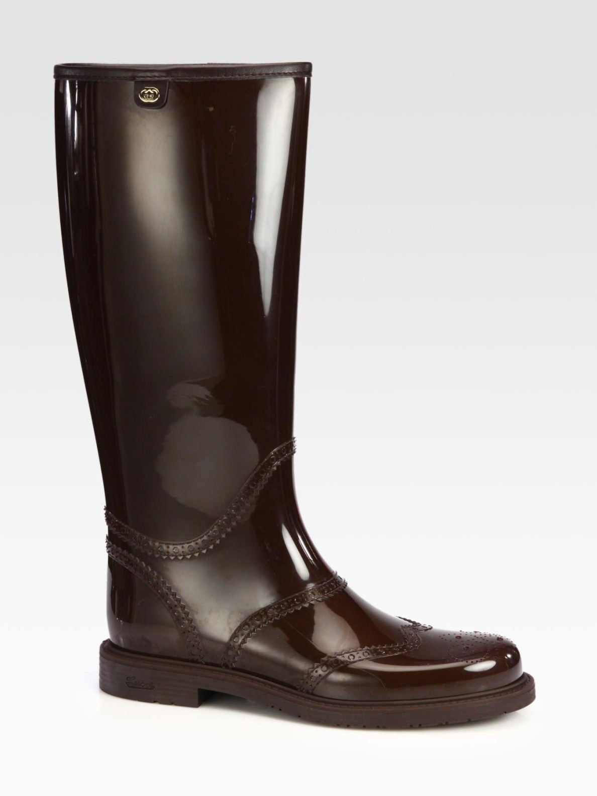 Gucci Aberdeen Rain Boots In Brown Cocoa Lyst