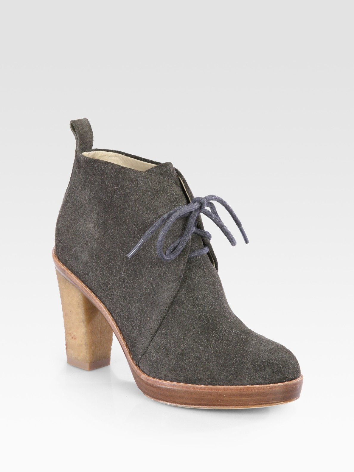 4f2652c417ac Lyst - Kors by Michael Kors Lena Suede Laceup Ankle Boots in Gray