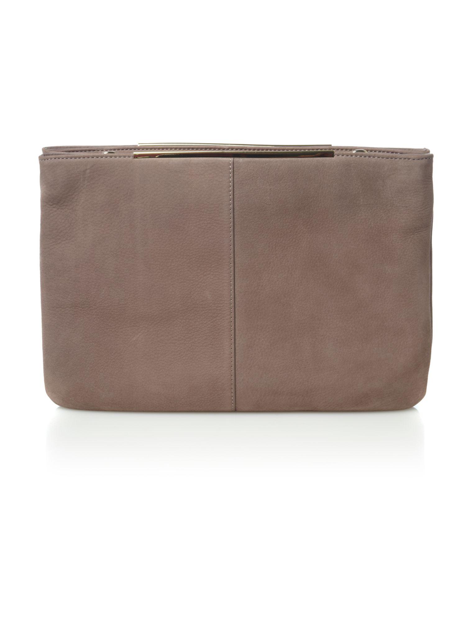 Mary Portas Double Zip Feature Cross Body Bag in Grey (Grey)