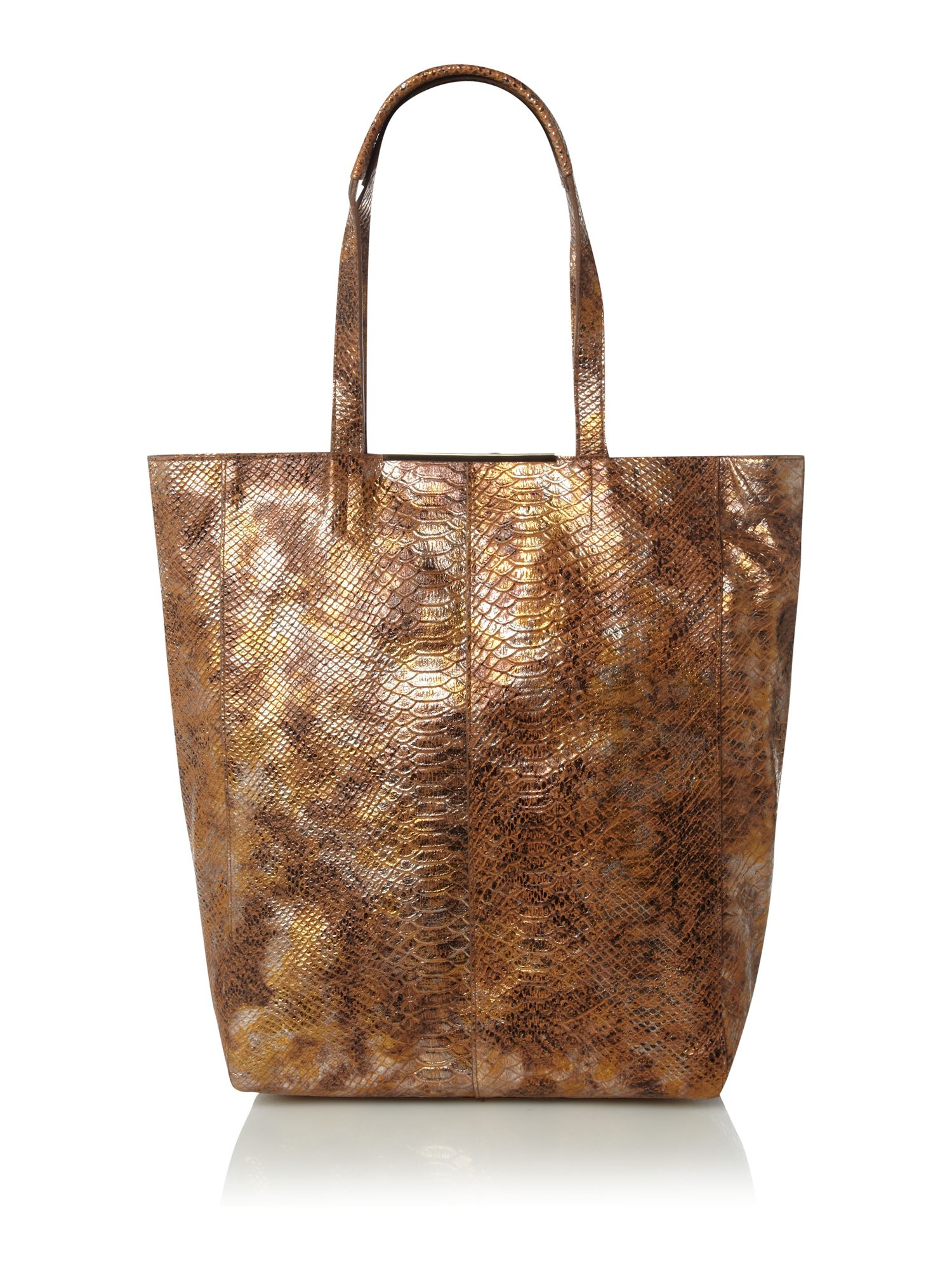 Mary Portas Tote Bag in Metallic (Brown)