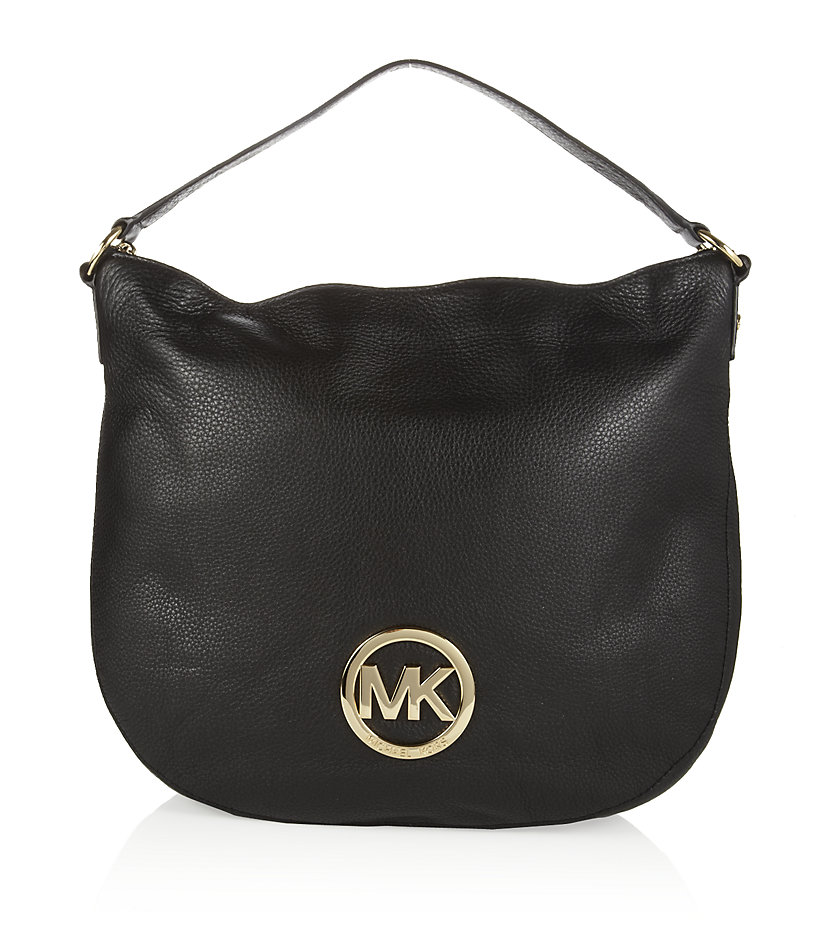 michael michael kors fulton hobo bag in black lyst. Black Bedroom Furniture Sets. Home Design Ideas