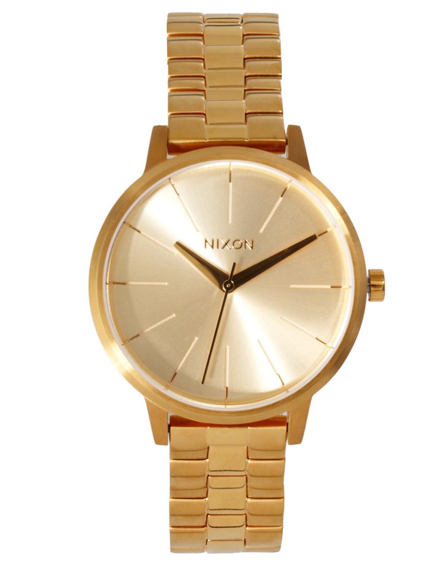nixon gold bracelet in metallic lyst
