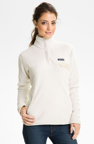 Patagonia Re Tool Snap Pullover In White Raw Linen Lyst