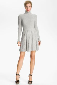 Knitted Dress on Red Valentino Cable Knit Turtleneck Dress   Lyst