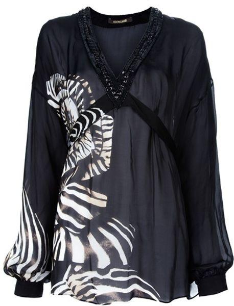 Zebra Print Sheer Blouse 33