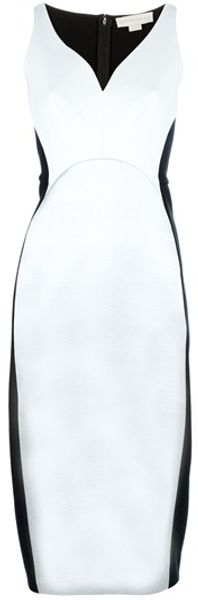 Stella McCartney Contrast Panel Jersey Dress - Lyst