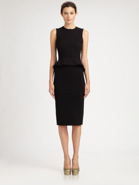 Stella Mccartney Sleeveless Peplum Dress in Black - Lyst