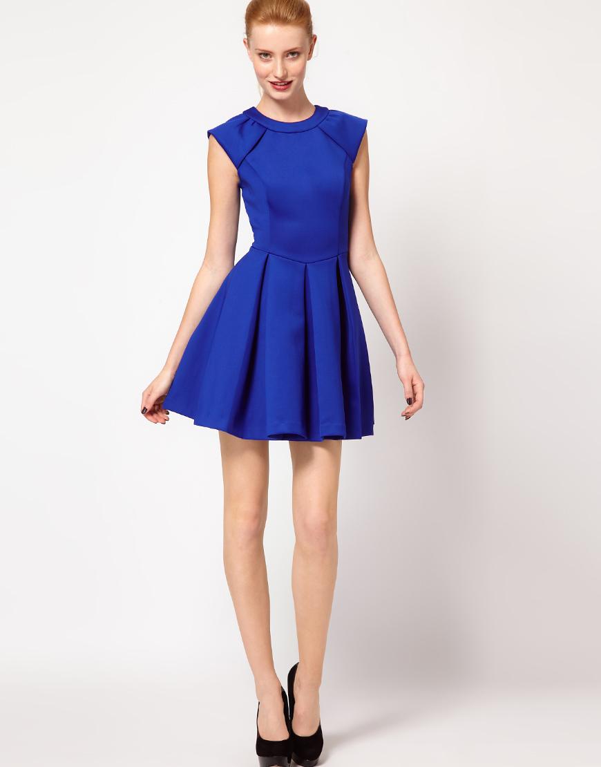 ted baker lantern skirt dress in blue lyst
