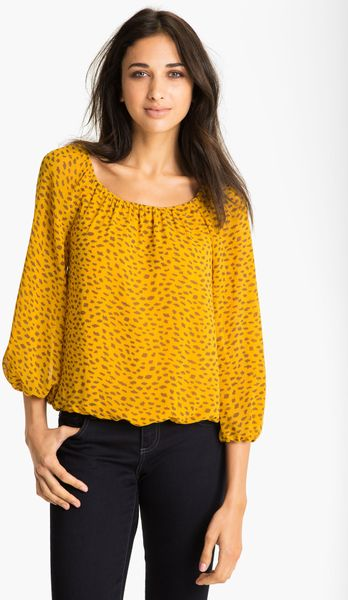 Yellow Peasant Blouse 105