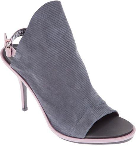 Balenciaga Sling Back Sandal in Gray (black)