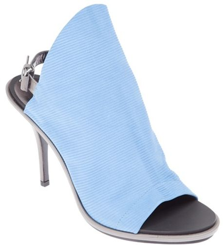 Balenciaga Sling Back Sandal in Blue
