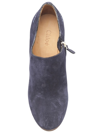 Chloé Wedge Bootie in Navy (Blue)