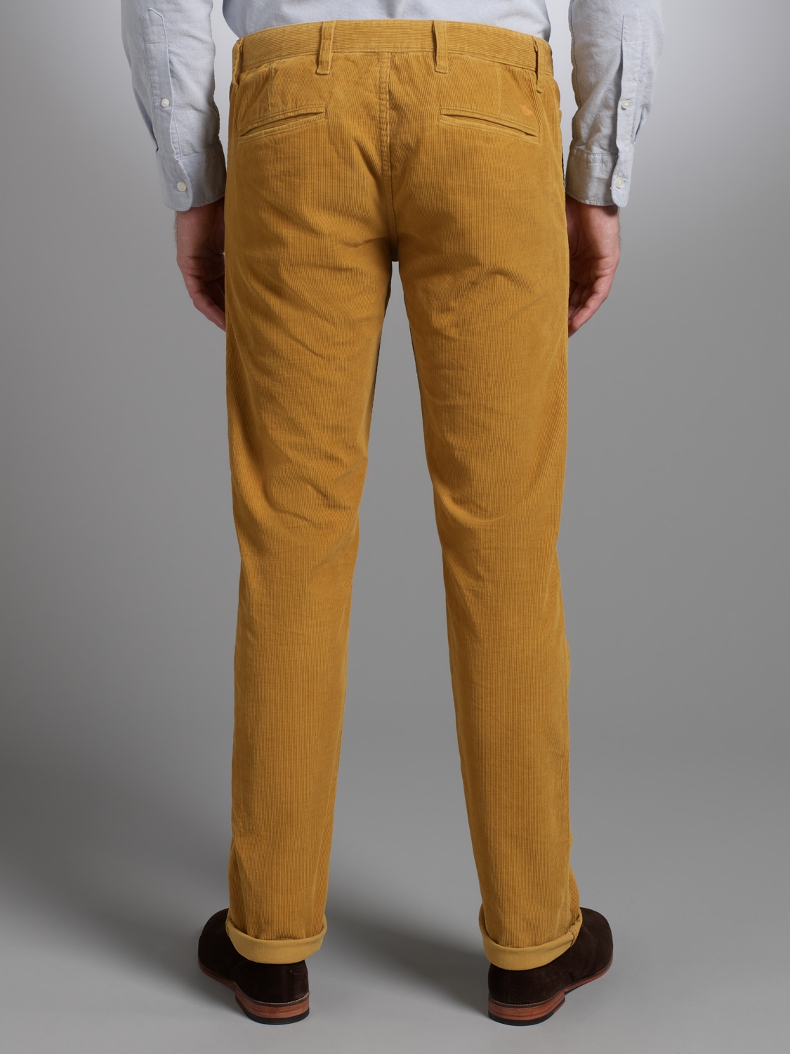 Dockers Dockers Alpha Khaki Washed Corduroy Trousers Gold