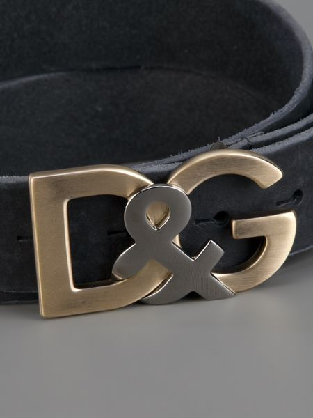 dolce amp gabbana logo belt in black for men lyst