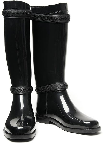 Givenchy Zipper Rain Boot In Black Lyst