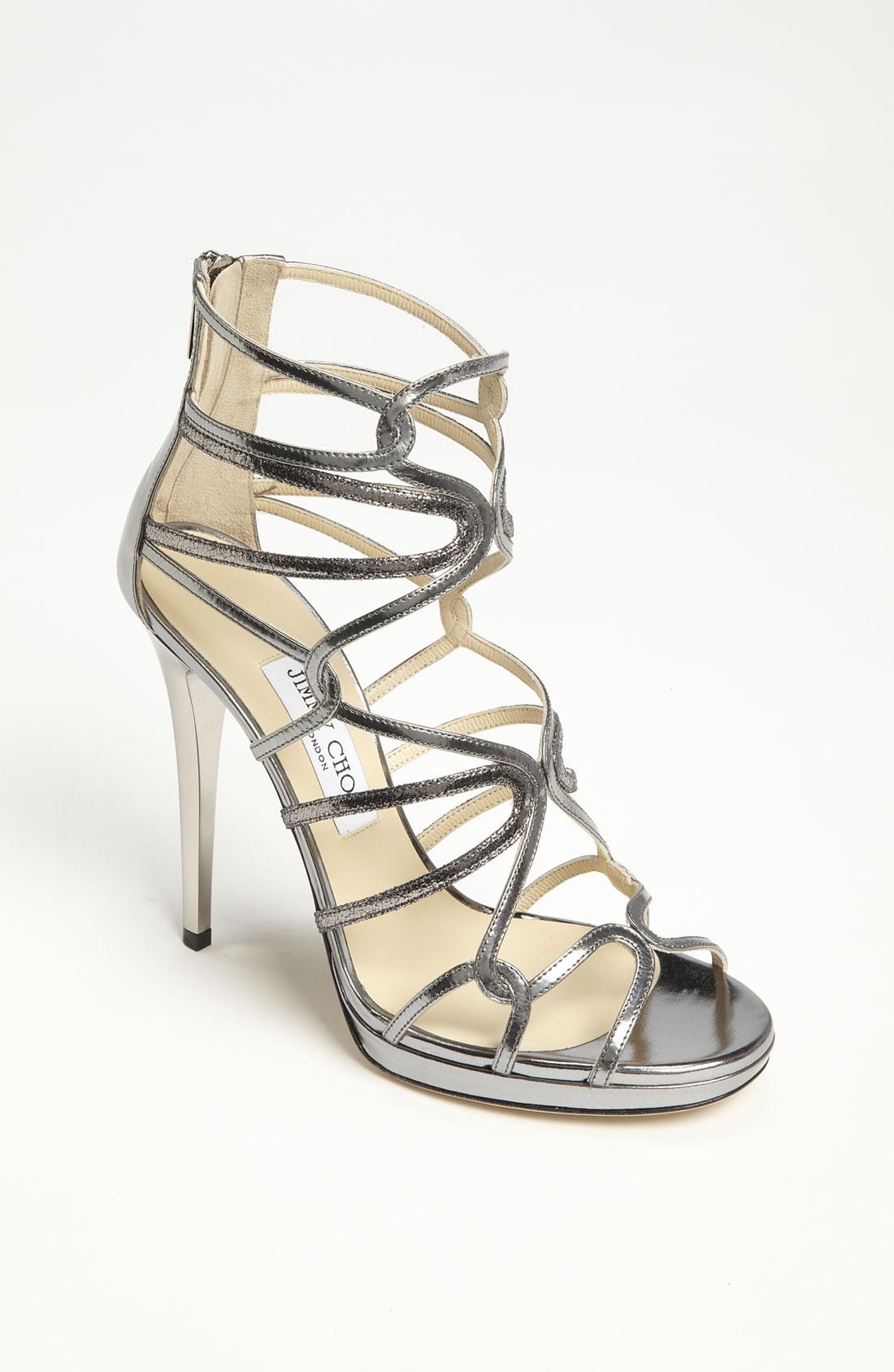 Jimmy Choo Lake Strap Sandal In Silver