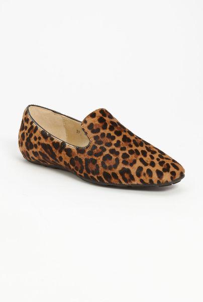 Jimmy Choo Wheel Jazz Flat in Brown (tan leopard)