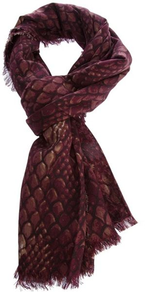 Marc By Marc Jacobs Dragonscale Shawl in Red