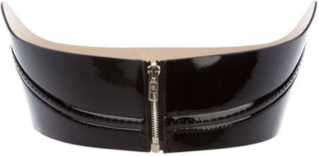 Mcq By Alexander Mcqueen Wide Zip Belt in Black