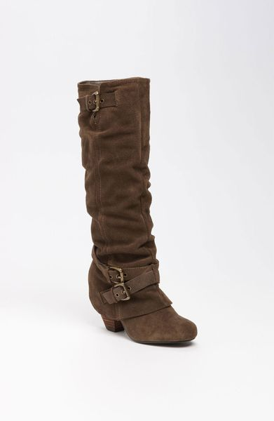 monkey risk it boot in brown taupe suede lyst