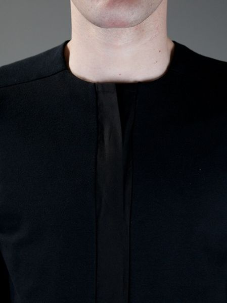Nero Ink Collarless Jacket In Black For Men Lyst