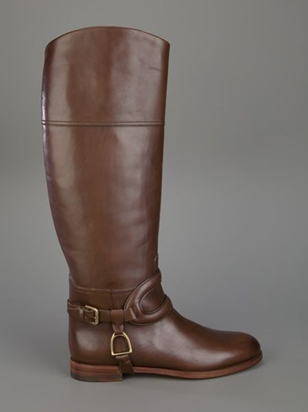 Ralph Lauren Riding Boot In Brown Lyst