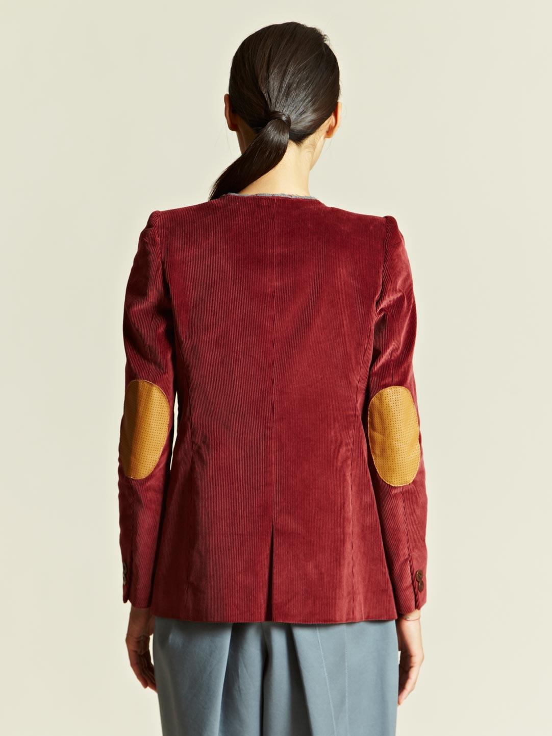 Kolor Kolor Womens Corduroy Jacket In Burgundy Purple Lyst