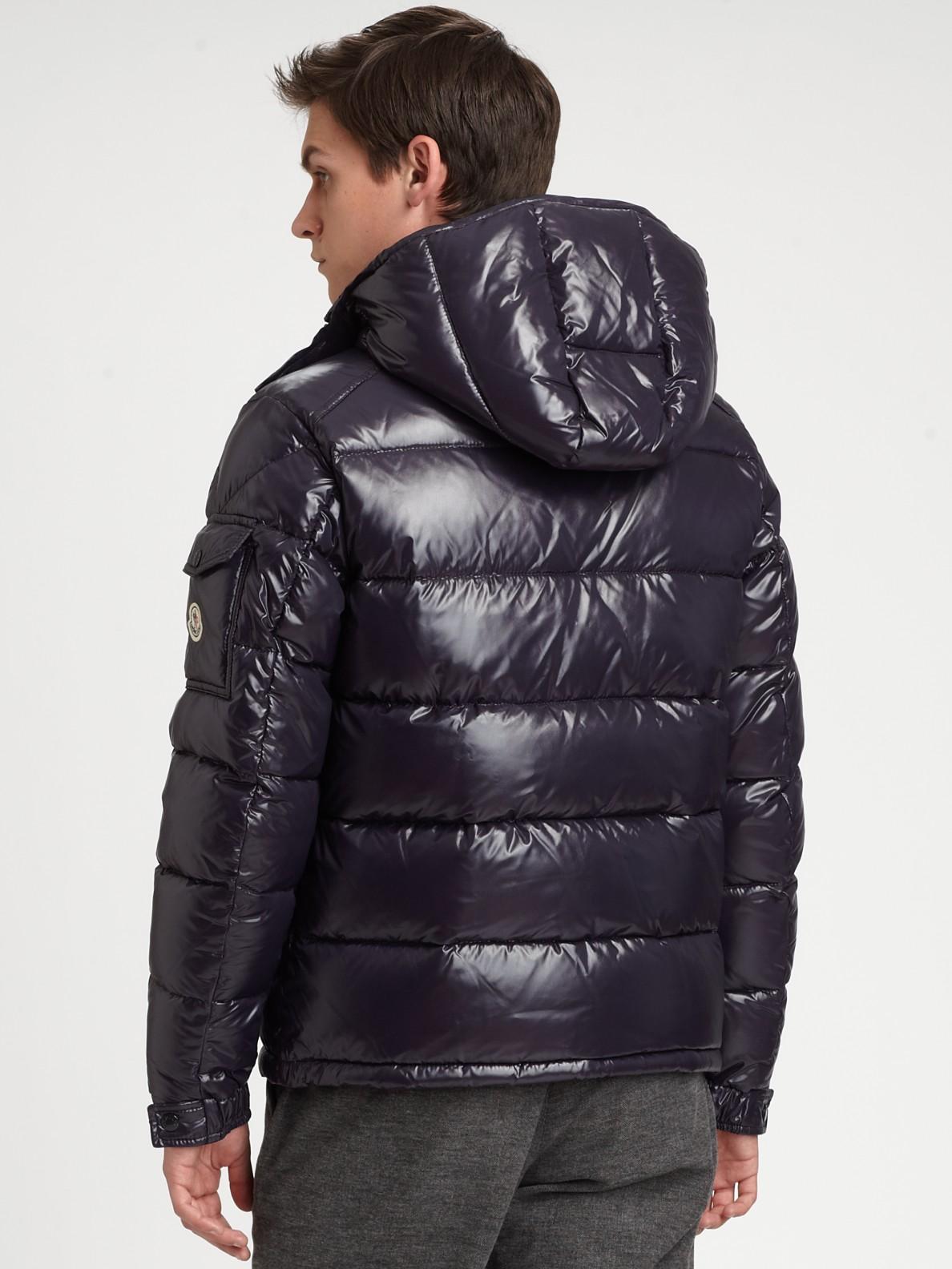3fde3ac1e Moncler Blue Nylon Maya Jacket esw-ecommerce.co.uk