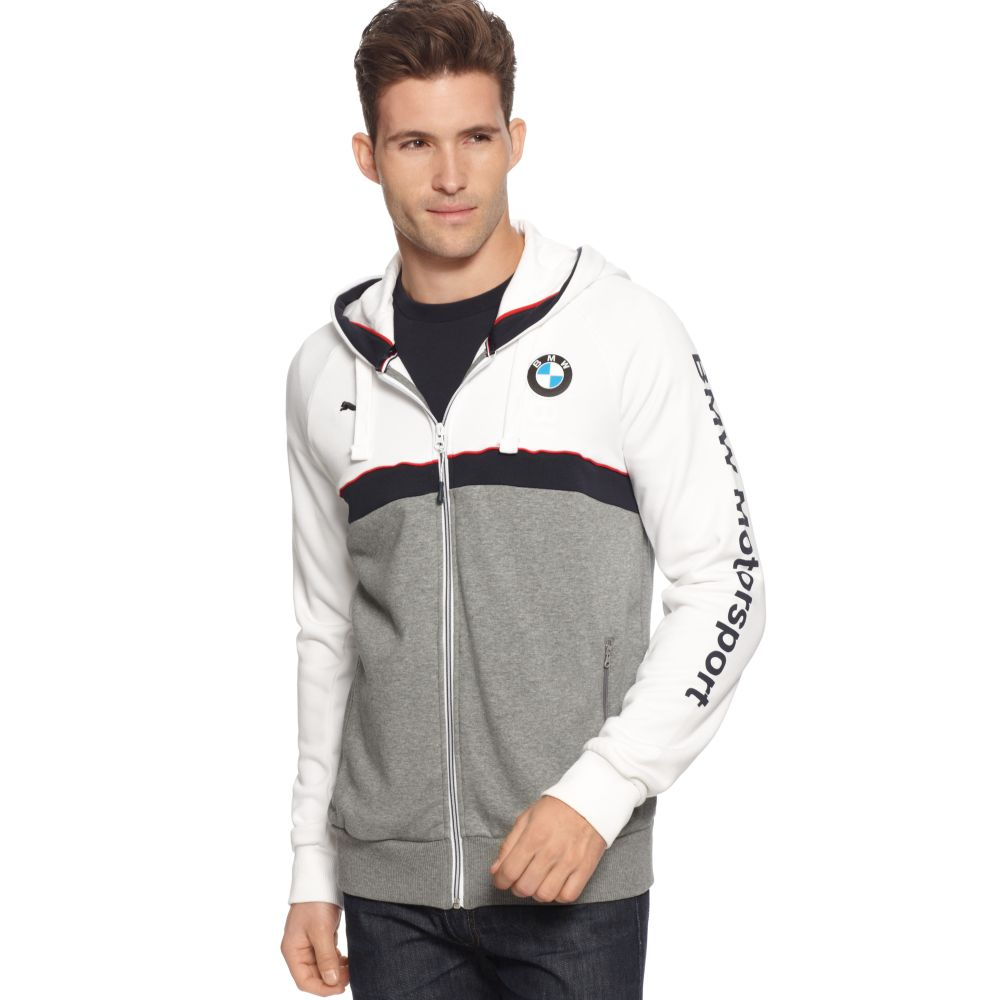 Puma Bmw Hoodie In Gray For Men Lyst