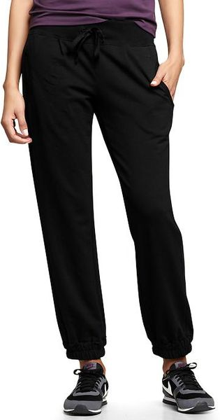 Gap Gapfit Slim Terry Pants in Black (true black)