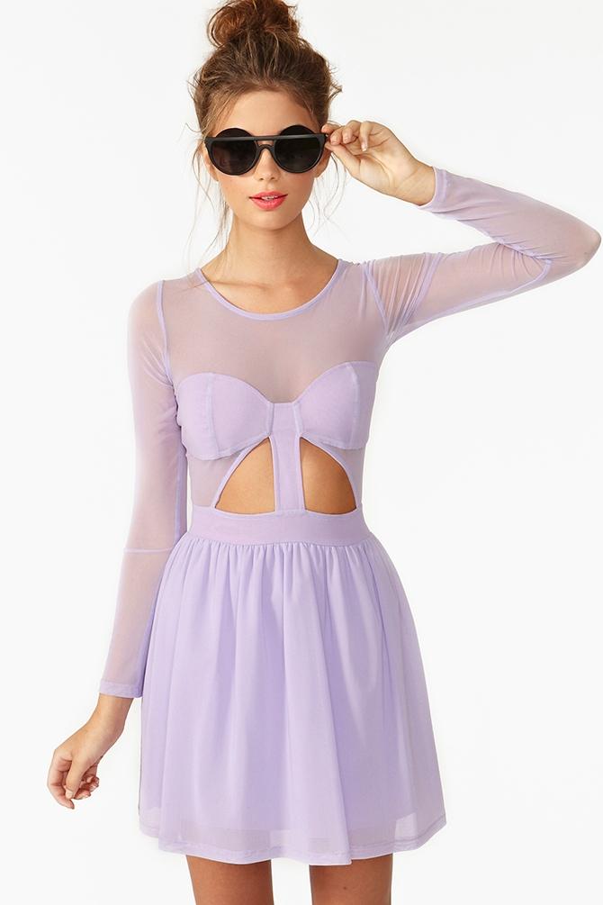 Lyst Nasty Gal Censored Skater Dress In Purple