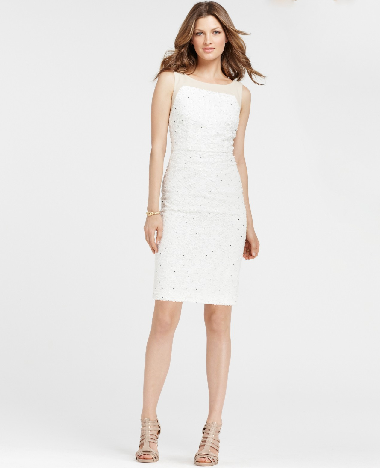 Lyst - Ann Taylor Icing Dress in Natural
