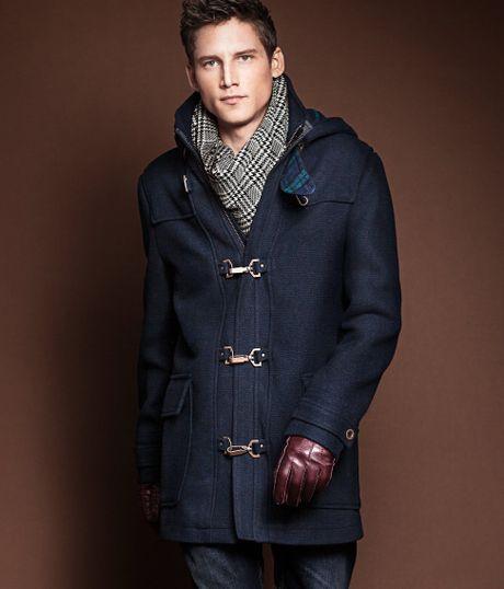 Men H&m Coat in Blue For