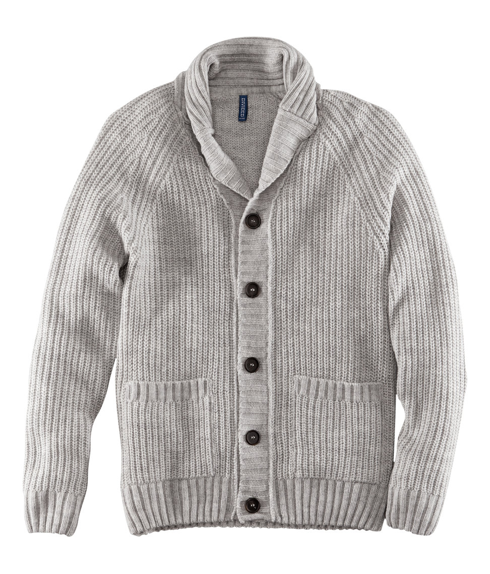 lyst h m cardigan in gray for men