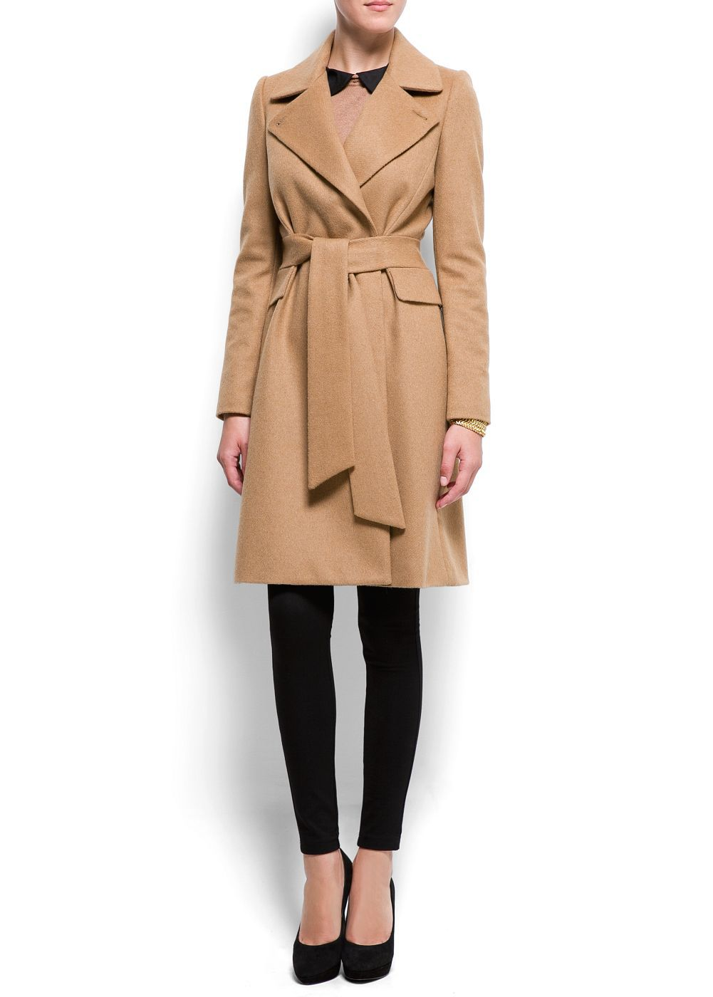 Lyst Mango Mango Belted Wool Coat New Camel In Natural