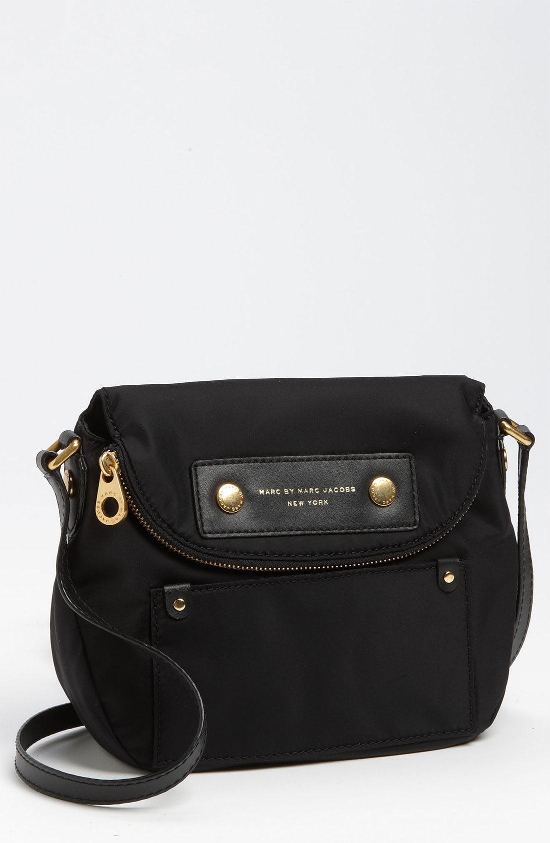 marc by marc jacobs 39 preppy nylon natasha mini 39 crossbody bag in black lyst. Black Bedroom Furniture Sets. Home Design Ideas