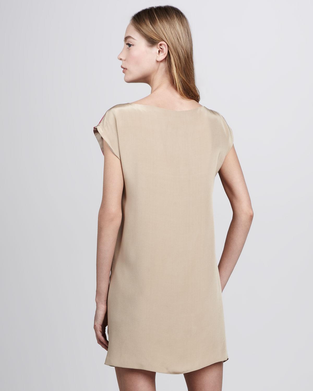 Tibi Jewel Orchid Print Shift Dress