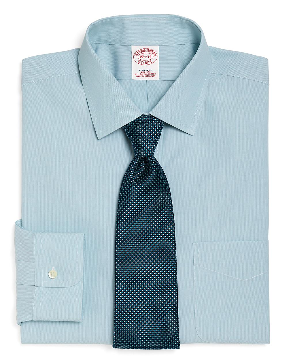 Brooks brothers supima cotton non iron regular fit for Brooks brothers dress shirt fit guide