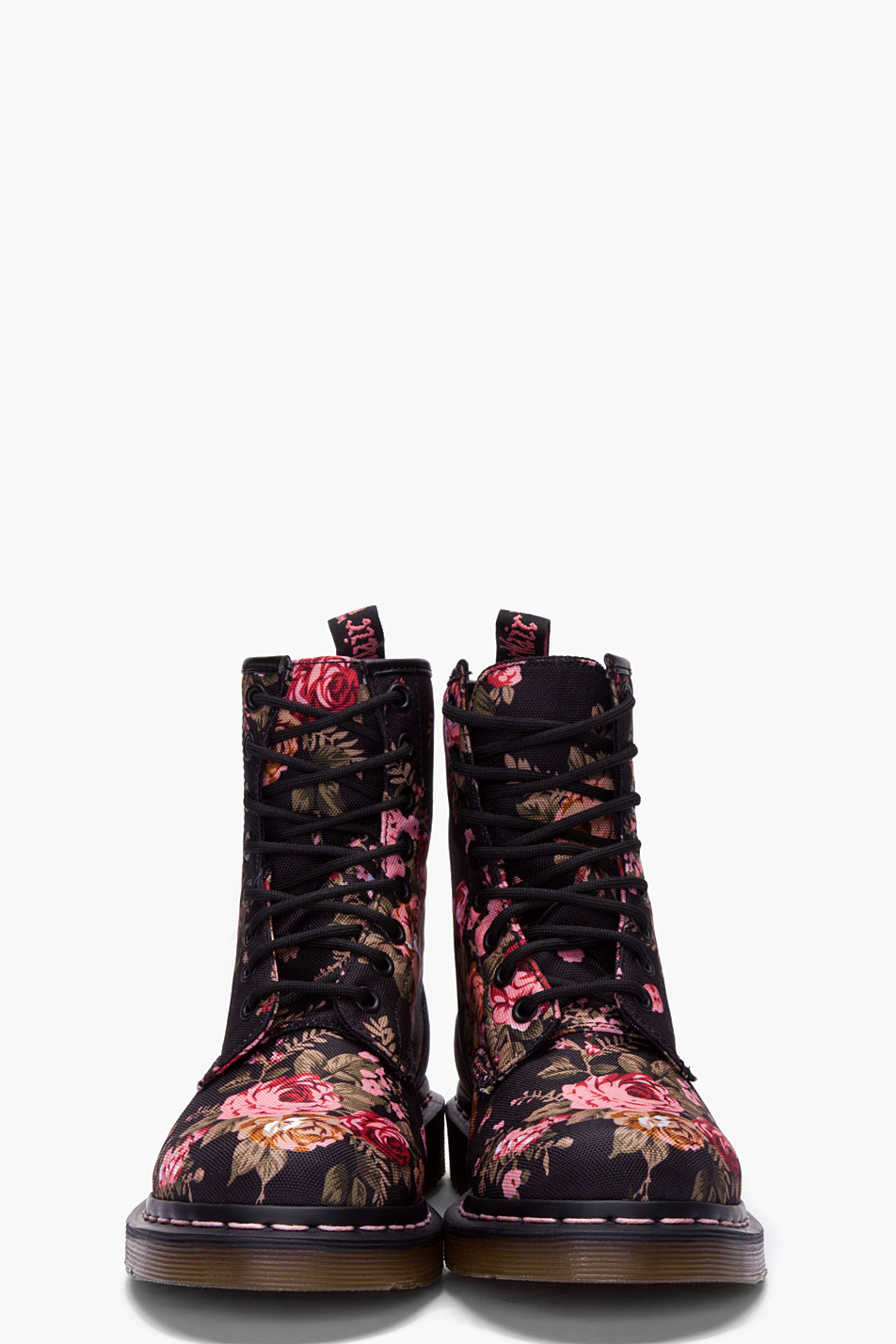 Dr Martens Dr Martens 8 Eye Victorian Print Ankle Boots