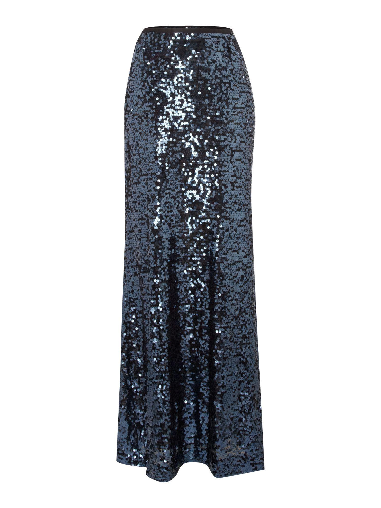episode sequin maxi skirt in blue navy lyst