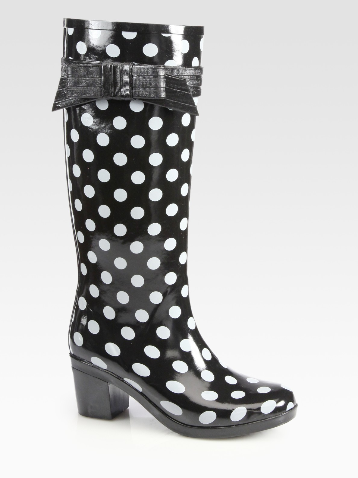 Polka Dot Rain Boots - Cr Boot